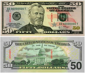 Dinheiro 50-dollar-bill